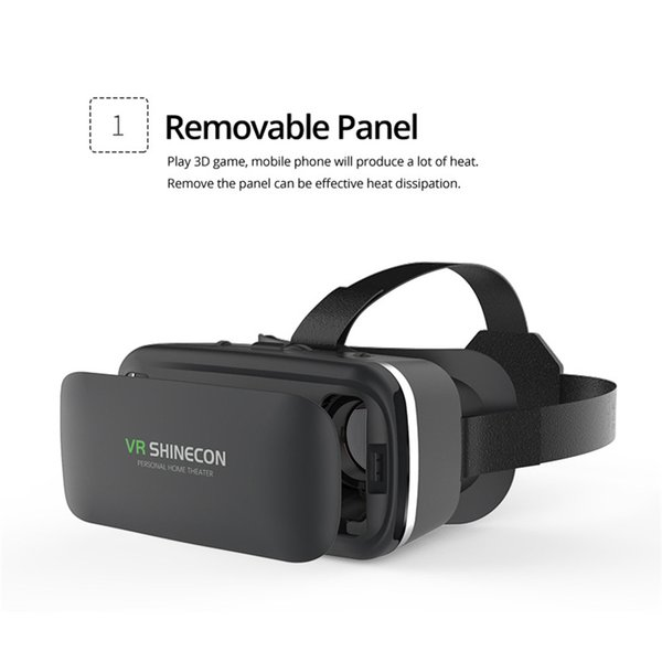 3d Goggles Headset Helmet For Smartphone Original Shinecon 6.0 VR Virtual Reality Glasses 3 D Smart Phone Google Cardboard Stereo
