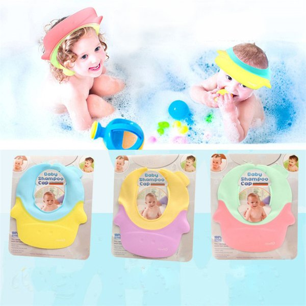 Child Washing Hair Shield Hat New Hot Sale Solid Head Round Shape Baby Bath Caps Shampoo Children Bathing For Kids Baby Shower