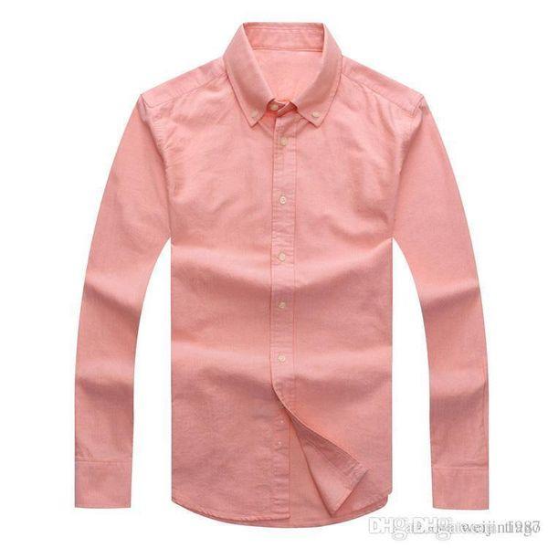 Новый мужской дизайнер с длинными рукавами повседневная твердые рубашки мужская США бренд RL поло рубашки мода Оксфорд социальные рубашки маленькая лошадь платье рубашки