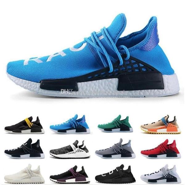 Дешевые 2019 Интернет Human Race 1.0 Оптовая Pharrell Williams X Спортивные кроссовки скидка Дешевые Спортивная мужская обувь