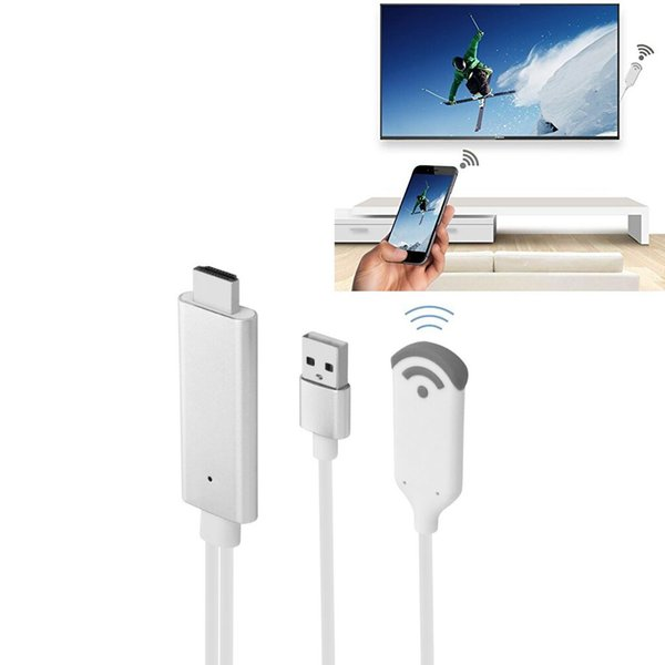 Wi-Fi Беспроводной видеоадаптер MiraScreen, беспроводной HDMI-адаптер для 1080P HDTV медиа-дисплея для iPhone XS Max / XS / XR