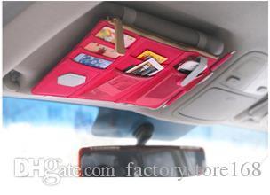 2017 Multi-function sun visor storage bag organizer with pockets Holder Multi-Pocket Travel Storage Bag Car organizer