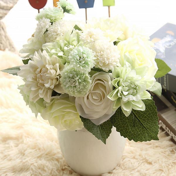 Eight Roses A Bunch Dahlia Artificial Flower Bouquet Simulation Flower Wedding Party Home Decoration