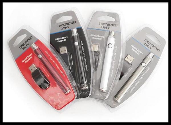 üst satıcı ambalaj Mini e sigara ön ısıtma kalem pil şarj seti 350mah VV pil ön ısıtma modu başlangıç takımı kabarcık