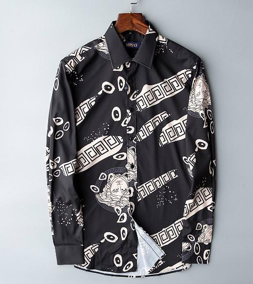 Men's Fashion Shirts Long Sleeves Solid Color Casual Shirt 2018 Winter New blouse Slim mandarin collar Teenager's OverShirtc110