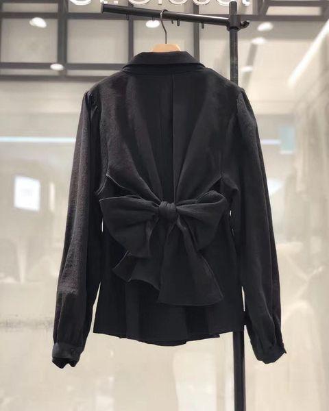 Korean Spring Women Apricot Bow Knot Shirts Female Casual Vogue Long Sleeve Blouse Fashion Ladies Elegant Tops
