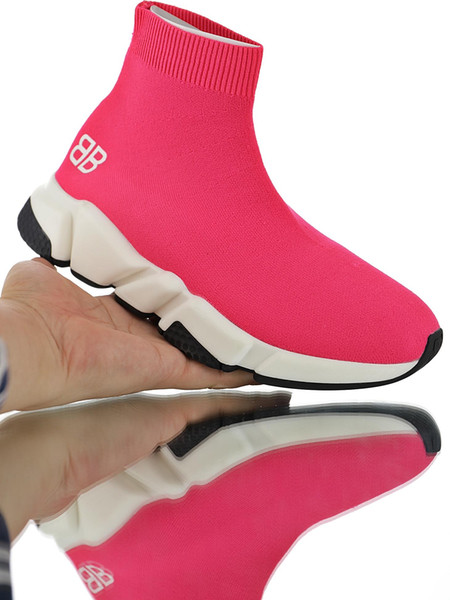 New Arrival Pink Collar White Soled Lover Shoes Good Anti Skid Shock Absorption Foot Knit Socks Sneakers With Original Box Outlet Outlet93