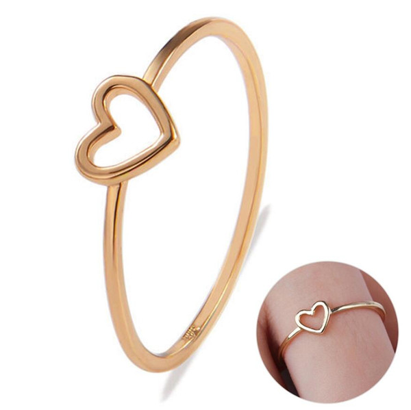 Love Rings Golden Hollow Out Beautiful Silver Wedding Couples Heart Ring Bride Size 6 7 8 9 10 Scarf Accessories Valentines Gift