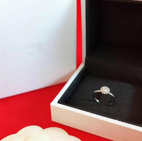 Luxury Wedding Engagement Diamond Ring Woman S925 Sterling Silver Round Diamond Carat Diamond Ring Designer D B Brand Jewelry