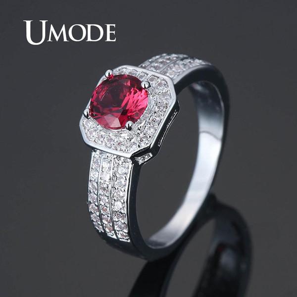 UMODE Kristallringe für Frauen Zirkonia CZ Ringe Mädchen Luxus Verlobung Hochzeit Femme Art und Weise Jewery Geschenke UR0584