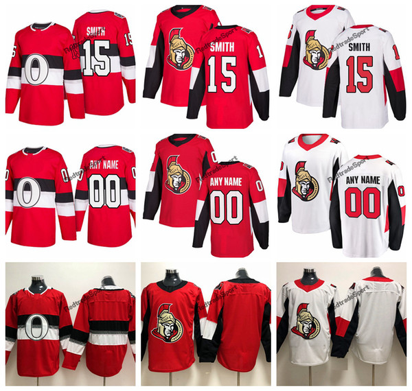 the best attitude 9015e 3551d 2019 2019 Zack Smith Ottawa Senators Hockey Jerseys 100th Classic Mens  Custom Name Home Red #15 Zack Smith Stitched Hockey Shirts S XXXL From ...