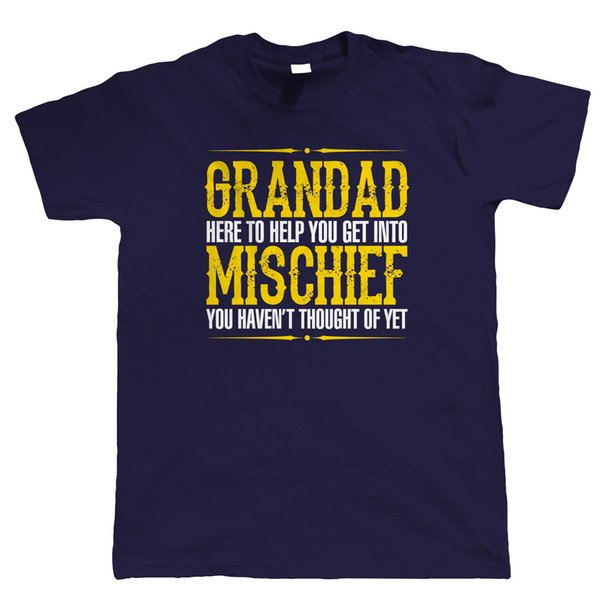 Grandad Mischief Mens Funny T Shirt, Birthday Fathers Day Christmas Gift Funny free shipping Unisex Casual tshirt