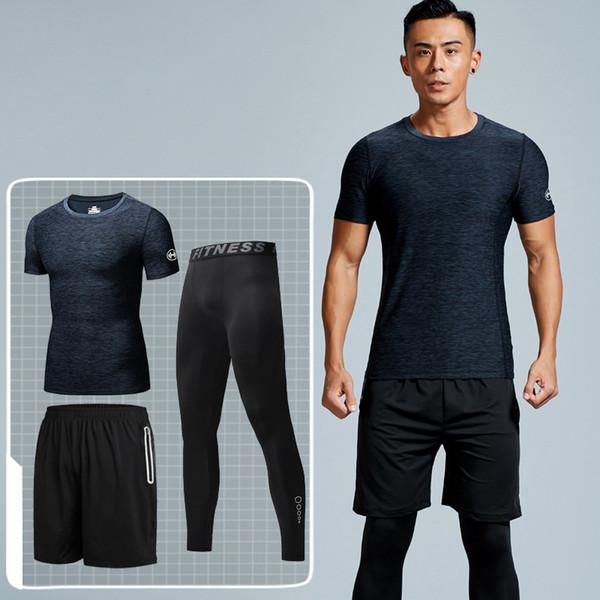 3 Adet erkek Erkekler Spor Koşu Parça Erkek Eşofman Açık Havada Takım Elbise Suits Erkekler Açık Koşu Spor Rahat Spor Suits