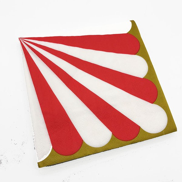20шт/УП красные полоски одноразовые салфетки красный полосатый бумажные салфетки в полоску на день рождения свадебная вечеринка украшения