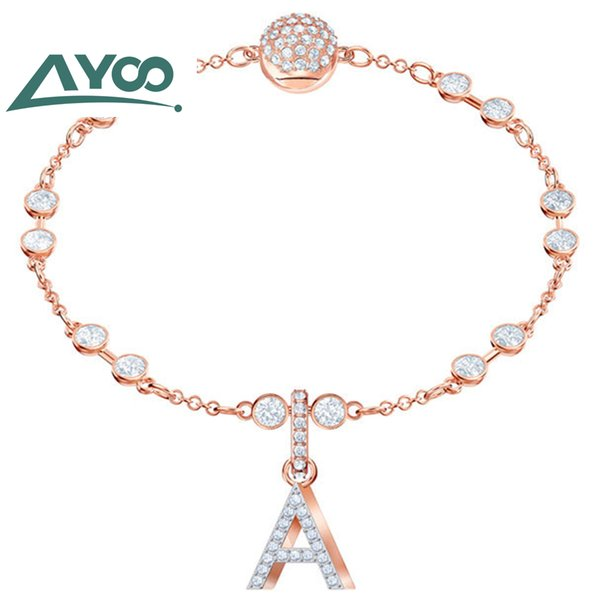 ayoo 2019 original swa letter series fashion invisible magnetic buckle ms. bracelet diy pendant bracelet