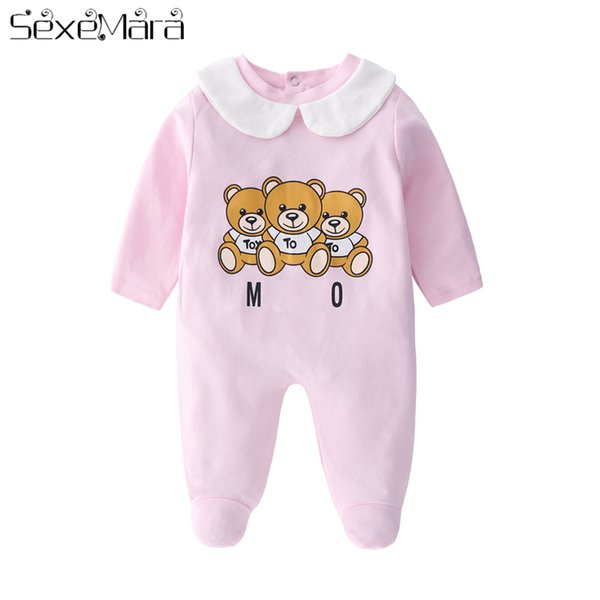 Baby Newborn Bear Romper Hooded Jumpsuit Infant Boy Girl Babygrow Sleepsuit Set