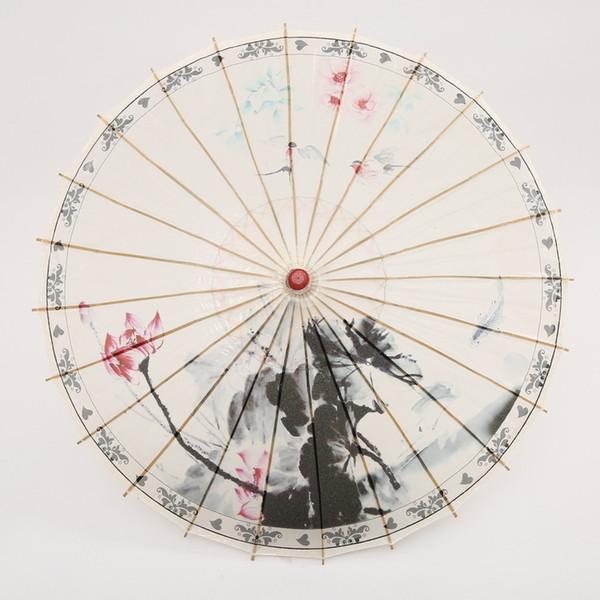 Chuangge Craft Oiled Paper Umbrella Rain Women Dance Decorative Chinese Umbrella Japanese Performance Props Vintage Retro T8190619
