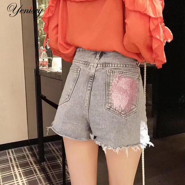 Summer Denim Short Jeans Women Waist Hole Ripped Shorts Fashion Casual Slim Plus Size Denim Shorts Female