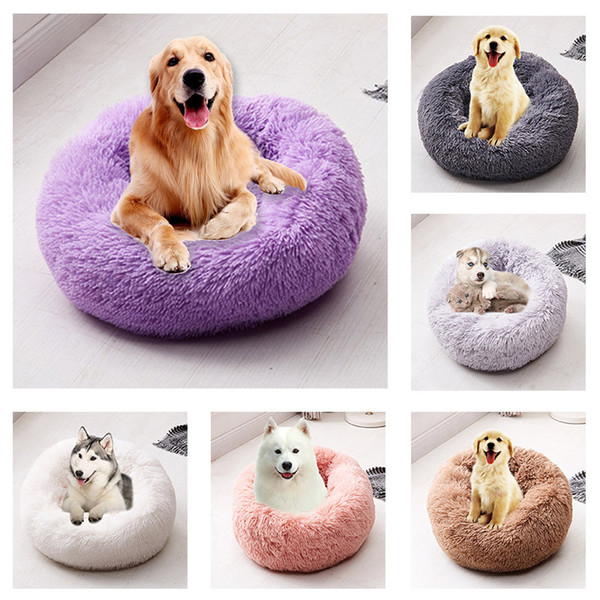 best selling Pet Mats Dog Round Cat Winter Warm Sleeping Bag Long Plush Soft Pet Bed Calming Bed Indoor Round Pillow Sleeping Pad