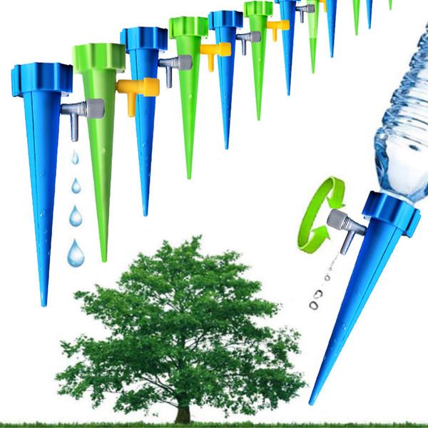 Jardin Cône Lazy auto arrosage infiltration Spike vanne réglable Plant Flower Waterers Bouteille Irrigation Pratique Arroseur MMA1951