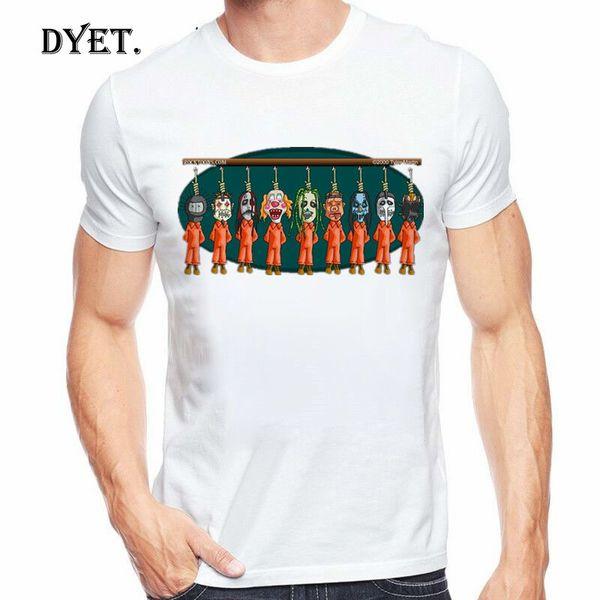 Slipknot майка Мужская футболка Зеленый Хип-хоп Tee Streetwear мультфильм аниме Одежда смешная футболка Прохладный Мужская одежда 2019