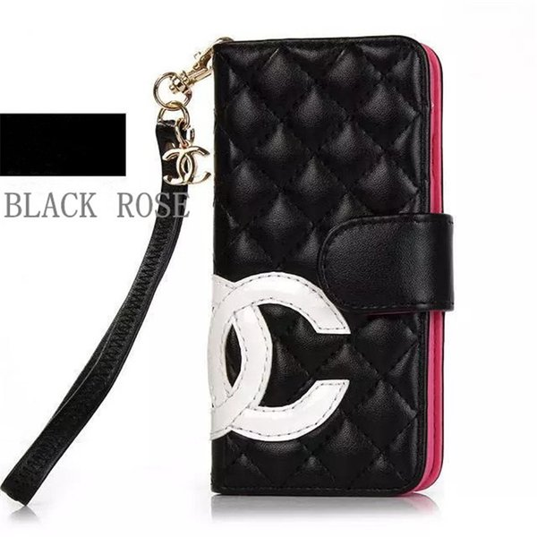 For iPhone X Xs Max XR Luxury Fashion Grid Leather Flip Wallet Phone Case Cover For iphone 8 8plus 7 6 6S Plus Card holder cases