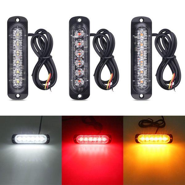top popular 2X6 LED Truck Warning Light Signal Light Car Off-Road Vehicle Motorcycle Truck Strobe Light 12-24v Universal Ultra-Thin 2021