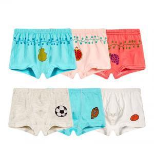 Niños Boxer Underwear Agent Bragas Ropa interior Chaquetas de algodón de dibujos animados de tiburón frutas patrón de ropa interior 3 unids LJJV259