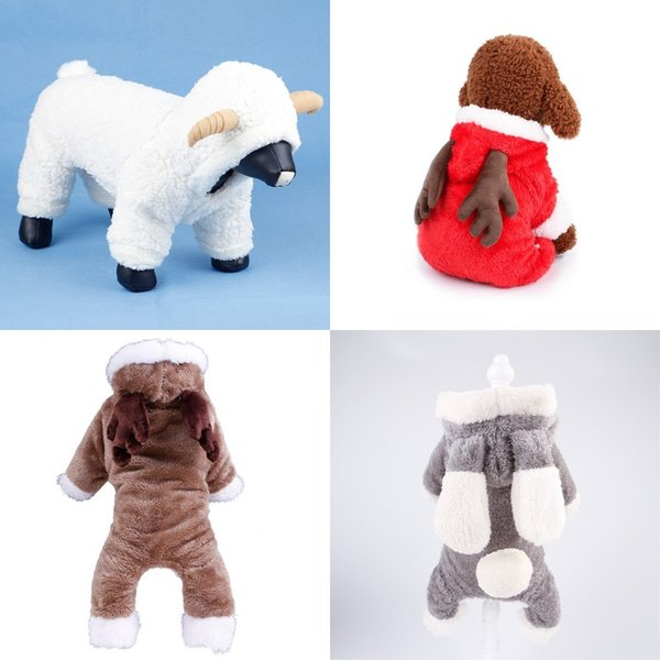 Cute Puppy Elk Christmas Outfit Winter Pet Thickening Four Legged Clothing Comfortable Dog Clothes New Style 18md Ww
