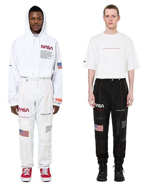 18FW NASA HP Pantalones de moda Pantalones de astronauta sueltos Casual Funcional Hombre y mujeres Pantalones de moda de alta calidad HFBYKZ079