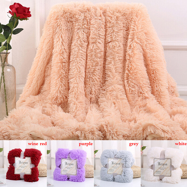 New High Quality Large Soft Warm Shaggy Faux Fur Throw Blanket Sofa Double  King Bed Blanket Oversized Throws Blankets Custom Blankets Throws From ...