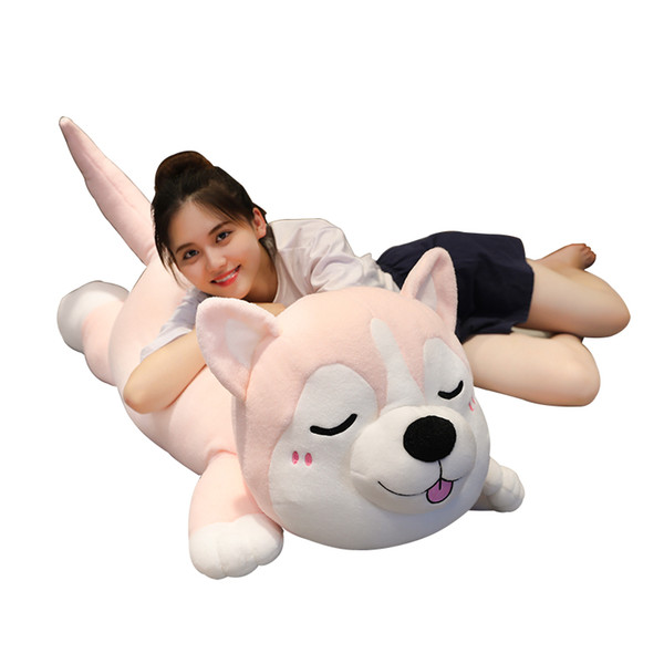Husky doll plush toy two ha boys cute dog doll super cute sleeping bed pillow girl