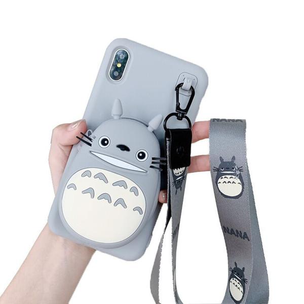 Cartone animato tote bear coin wallet apple XsMax custodia per cellulare iphone7 / 8plus colla morbida 6s per donna