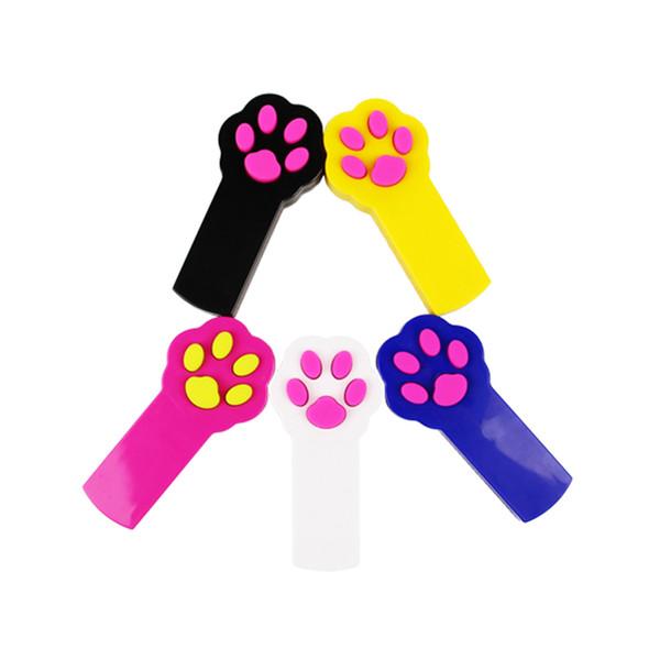 Garra do gato tipo Red Laser Pointer Pen Com Branco LED Light Show Engraçado vara Pointer Toy Para Gatos