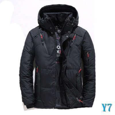 Mens Fashion Designer Parkas Down Jacket Outdoor courts Vêtements Épaississement Canard Casual Bas Vêtements Collège Points 2019 Nouveau Taille M-4XLY7