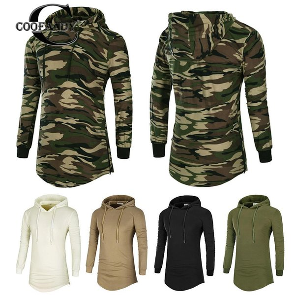 New Fashion Men Casual Drawstring Hooded Long None Sleeve Hips Length Pullover Regular fit, Pullover, Hoodie