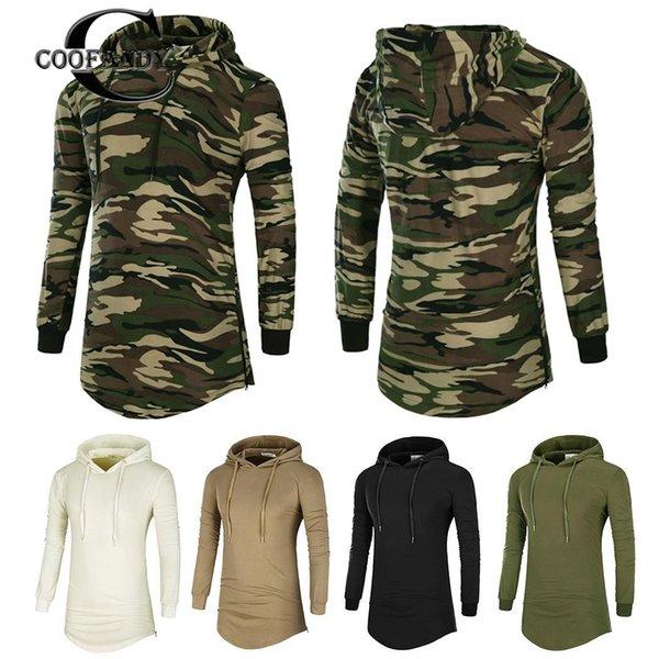 Новая мода Мужчины Повседневная Drawstring с капюшоном Длинные рукава Без Бедра Длина пуловер Regular подходят, пуловер, толстовка