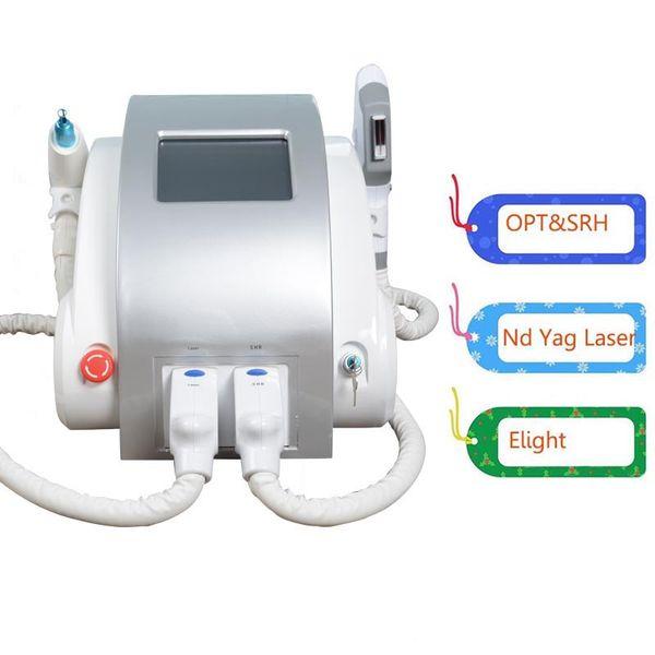 e sale de depilación IPL luz láser Nd YAG eliminación de tatuajes eliminación de la piel máquina de elevación pigmentación 3 en 1 máquina de la belleza multifuncional