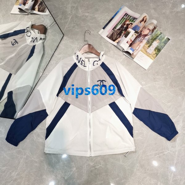 Nueva capa de la mujer carta impresa chaqueta carta soporte cuello cardigan capa moda casual mujer Colorblock protección solar ropa tops abrigo