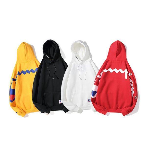 Champ dos Grandes lettres Logo sweats Automne Hiver Marque de mode Hommes Femmes Luxe Manches longues Sweats Coton Pull À Capuche Pull