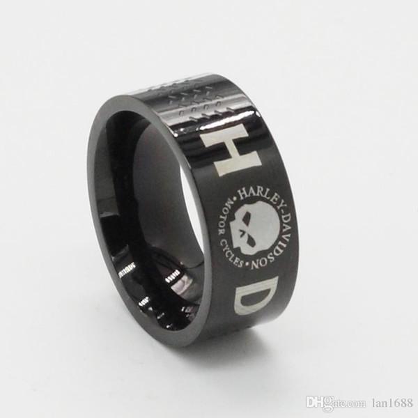 Jewels88 Wholesale, European and American motorcycle rings, men's personality, retro man, titanium steel ring, skull, punk