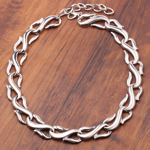 hip hop silver s chain choker necklace women men rock necklace jewelry accessories 2019 new design