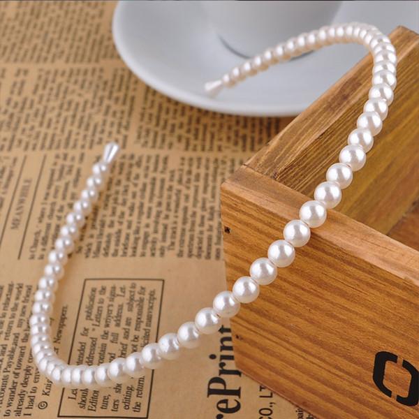 1 PZ elegante imitazione perla fascia bianca moda accessori per capelli coreano matrimonio al mare affascinante regalo di compleanno unico partito