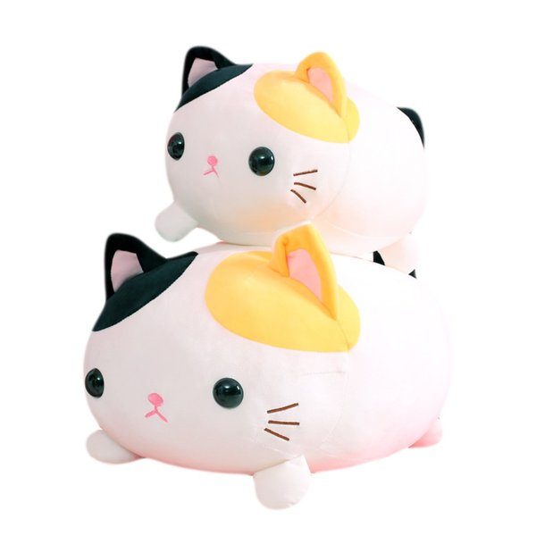 wholesale Free Dropshipping 35cm 45cm Super Soft Cat Stuffed Animal Toys Plush Kitty Pillows Home Decor Baby Pillow Birthday Easter