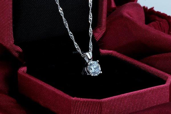 white pendants no chains