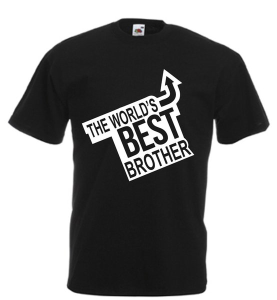 Worlds Best Brother Novelty T Shirt birthday xmas gift novelty adults kids funny Funny free shipping Casual Tshirt top