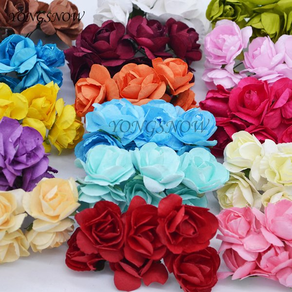 2019 Aper Flowers Wedding 3cm Artificial Azaleas Paper Flower Wedding Decoration Diy Craft Rhododendron Fake Flower Rose Wreaths Home Su From