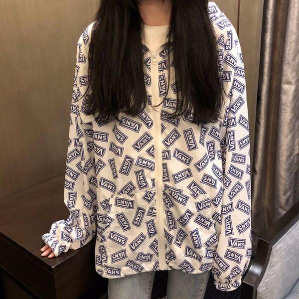 Camisolas das mulheres Europe America popular rua hip hop esportes hoodies cardigan de algodão carta de corpo inteiro impressão do logotipo camisola confortável