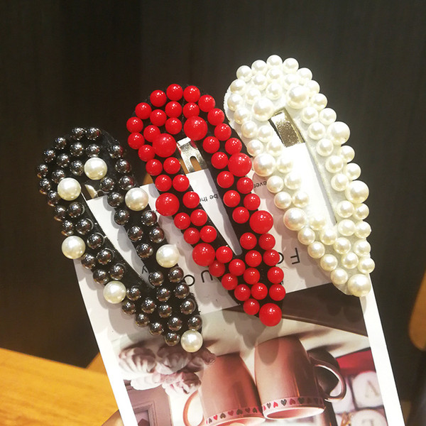 Net red ins side clip fashion bangs clip hairpin hair accessories Korea Dongdaemun burst hairpin Liu Ding pearl BB clip