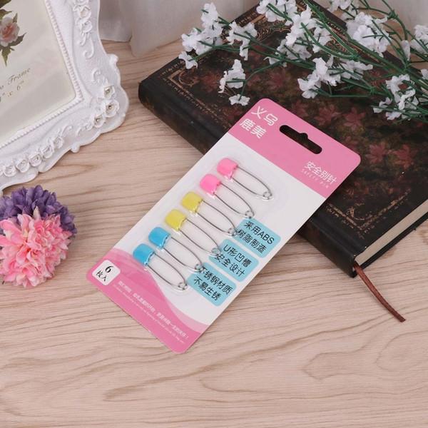 Drop ShiP 6 Pcs/Set Baby Safety Pins Bib Diaper Nappy Fastner Locking Cloth Colorful Clips